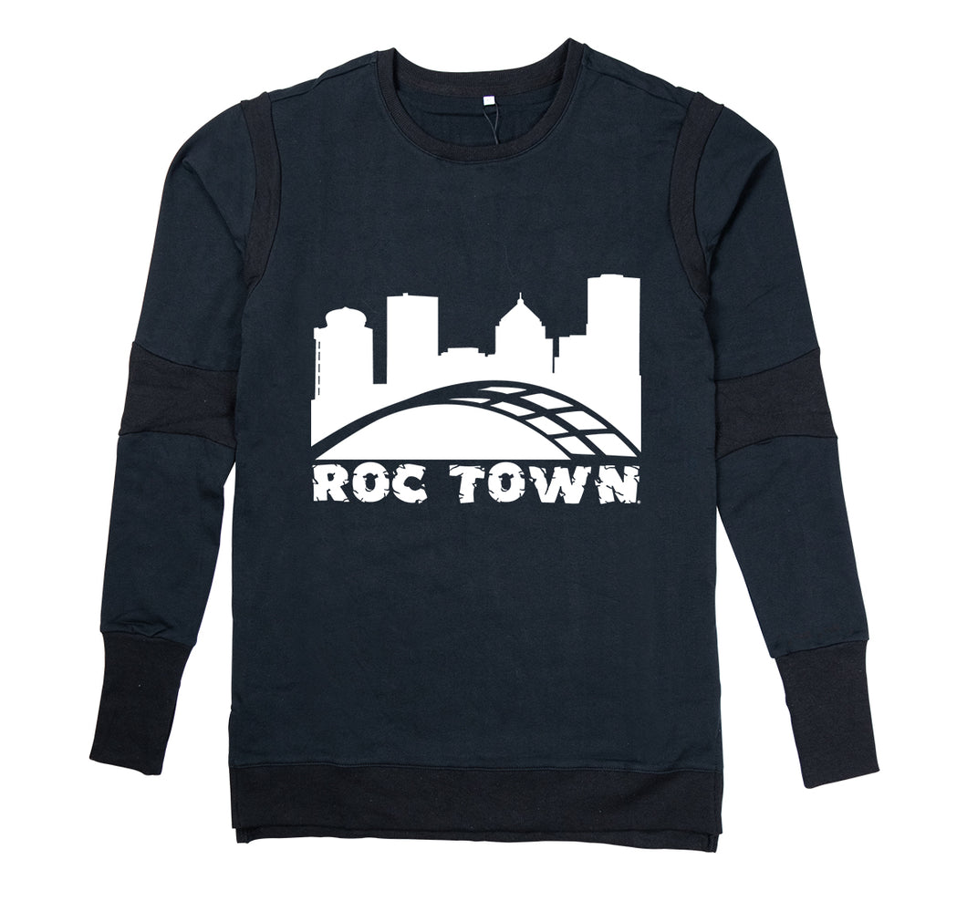 ROCTOWN APPAREL PREMIUM LONG SLEEVE SHIRT - MEN'S SLIM FIT