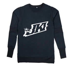 JUST KICKIN IT APPAREL PREMIUM LONG SLEEVE SHIRT - MEN'S SLIM FIT