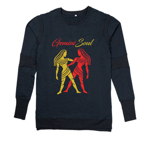 GEMINI SOUL APPAREL PREMIUM LONG SLEEVE SHIRT - MEN'S SLIM FIT