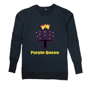 PURPLE QUEEN PREMIUM LONG SLEEVE SHIRT - MEN'S SLIM FIT