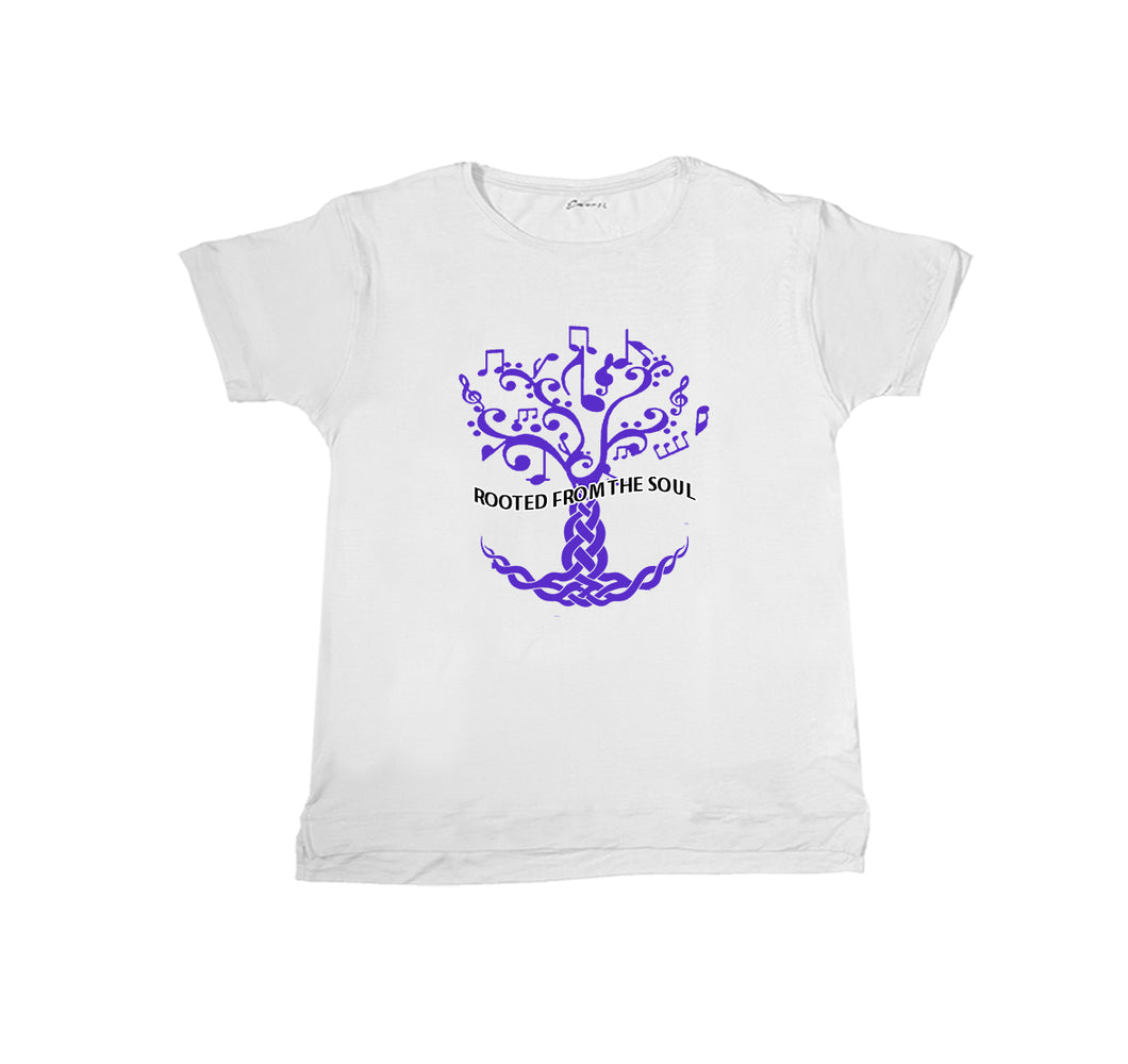 ROOTED FROM THE SOUL APPAREL PREMIUM T-SHIRT PRINT - UNISEX SLIM FIT- White