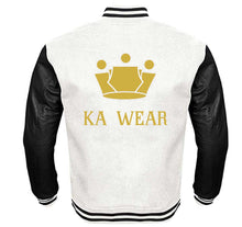 Load image into Gallery viewer, KA WEAR VARSITY PERFORMANCE FLEECE LEATHER SLEEVE