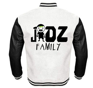 JIDZ FAMILY APPAREL VARSITY PERFORMANCE FLEECE LEATHER SLEEVE