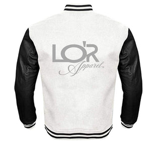 LOR APPAREL VARSITY PERFORMANCE FLEECE LEATHER SLEEVE