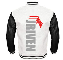 Load image into Gallery viewer, JRIVEN APPAREL VARSITY PERFORMANCE FLEECE LEATHER SLEEVE