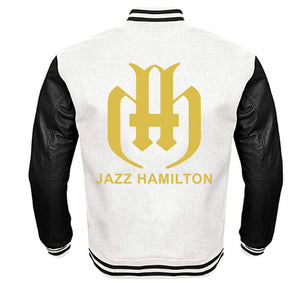 JAZZ HAMILTON VARSITY PERFORMANCE FLEECE LEATHER SLEEVE