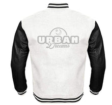 Load image into Gallery viewer, URBAN DREAMS VARSITY PERFORMANCE FLEECE LEATHER SLEEVE