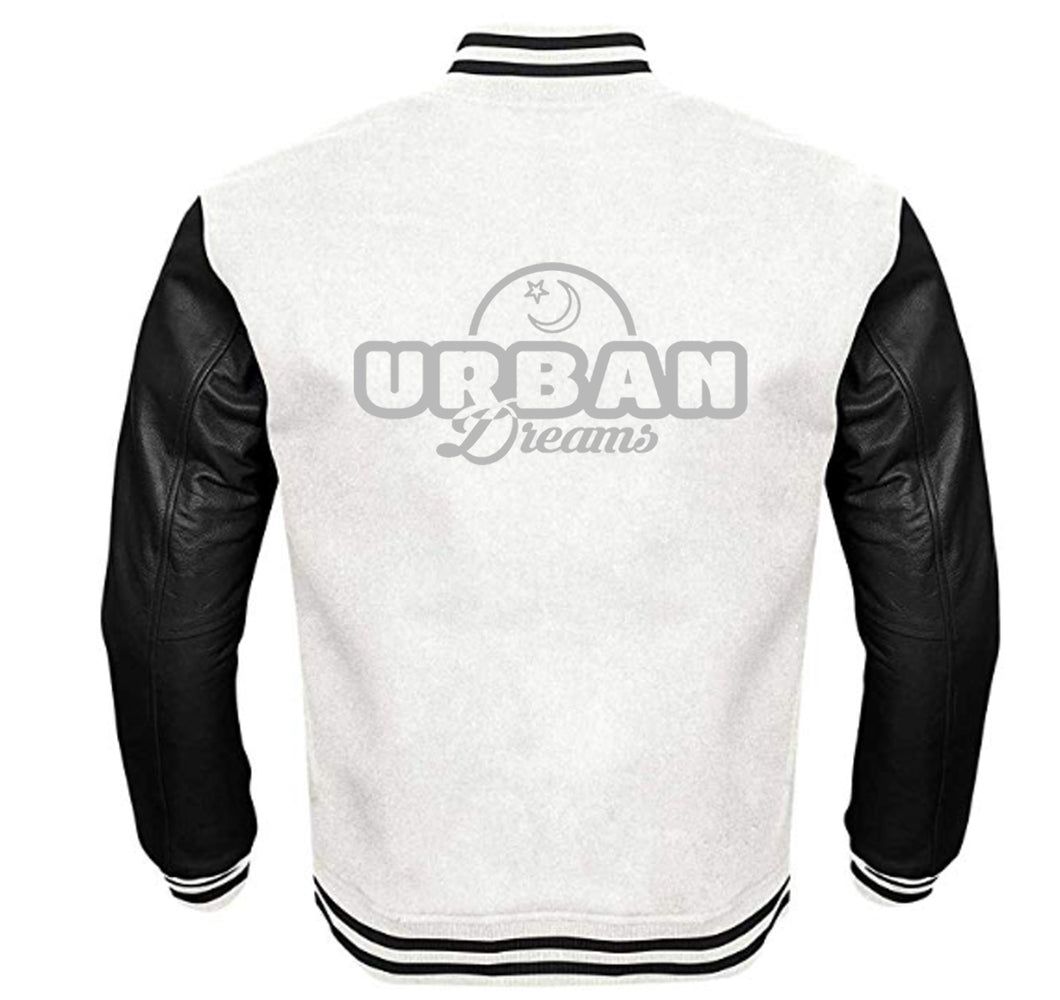 URBAN DREAMS VARSITY PERFORMANCE FLEECE LEATHER SLEEVE