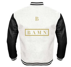 BBAMN VARSITY PERFORMANCE FLEECE LEATHER SLEEVE