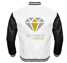 Load image into Gallery viewer, HUSTLE AUTHORITY VARSITY PERFORMANCE FLEECE LEATHER SLEEVE