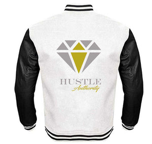 HUSTLE AUTHORITY VARSITY PERFORMANCE FLEECE LEATHER SLEEVE