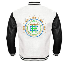 Load image into Gallery viewer, THE HIGHEST CIRCLE APPAREL VARSITY PERFORMANCE FLEECE LEATHER SLEEVE