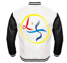 Load image into Gallery viewer, LINES OF TRANSFORMATION APPAREL VARSITY PERFORMANCE FLEECE LEATHER SLEEVE