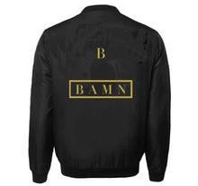 Load image into Gallery viewer, BBAMN VARSITY PERFORMANCE FLEECE LEATHER SLEEVE