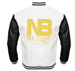 NOLIA BOY APPAREL VARSITY PERFORMANCE FLEECE LEATHER SLEEVE
