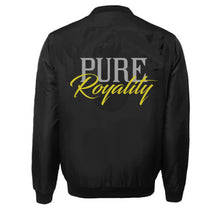 Load image into Gallery viewer, PURE ROYALITY VARSITY PERFORMANCE FLEECE LEATHER SLEEVE