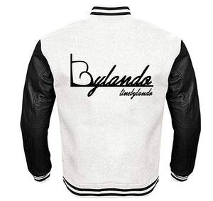 LINE BY LANDO APPAREL VARSITY PERFORMANCE FLEECE LEATHER SLEEVE