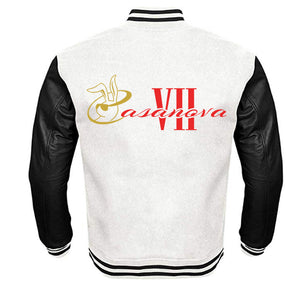 CASANOVA VII APPAREL VARSITY PERFORMANCE FLEECE LEATHER SLEEVE