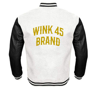 WINK 45 BRAND VARSITY PERFORMANCE FLEECE LEATHER SLEEVE