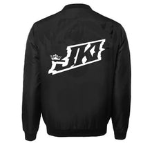 Load image into Gallery viewer, JUST KICKIN IT APPAREL VARSITY PERFORMANCE FLEECE LEATHER SLEEVE