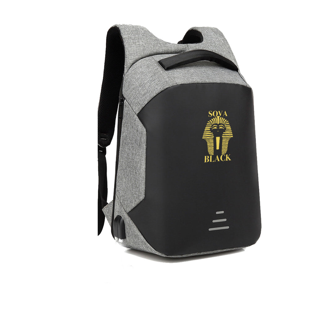 SOVA BLACK APPAREL HARD SHELL BACKPACK w/ BATTERY SUPPORT