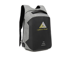 Load image into Gallery viewer, AJAICEON WORLD APPAREL HARD SHELL BACKPACK w/ BATTERY SUPPORT