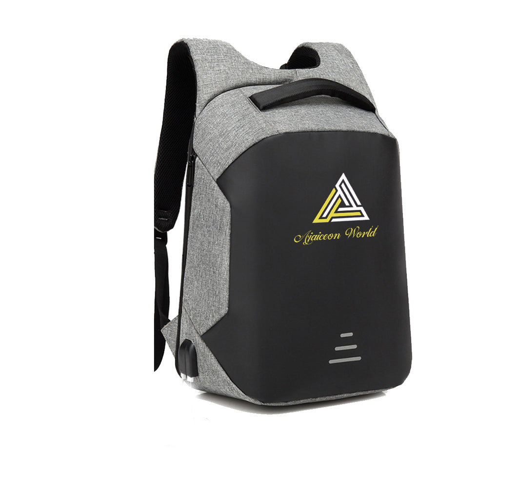 AJAICEON WORLD APPAREL HARD SHELL BACKPACK w/ BATTERY SUPPORT