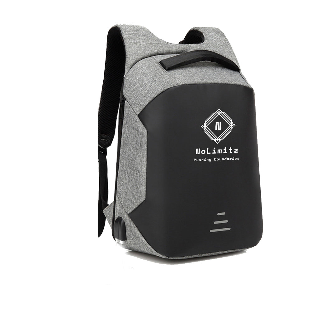 NO LIMITS APPAREL HARD SHELL BACKPACK w/ BATTERY SUPPORT
