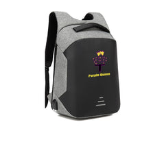 Load image into Gallery viewer, PURPLE QUEEN HARD SHELL BACKPACK w/ BATTERY SUPPORT