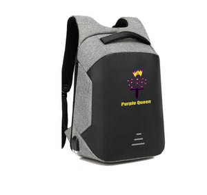 PURPLE QUEEN HARD SHELL BACKPACK w/ BATTERY SUPPORT