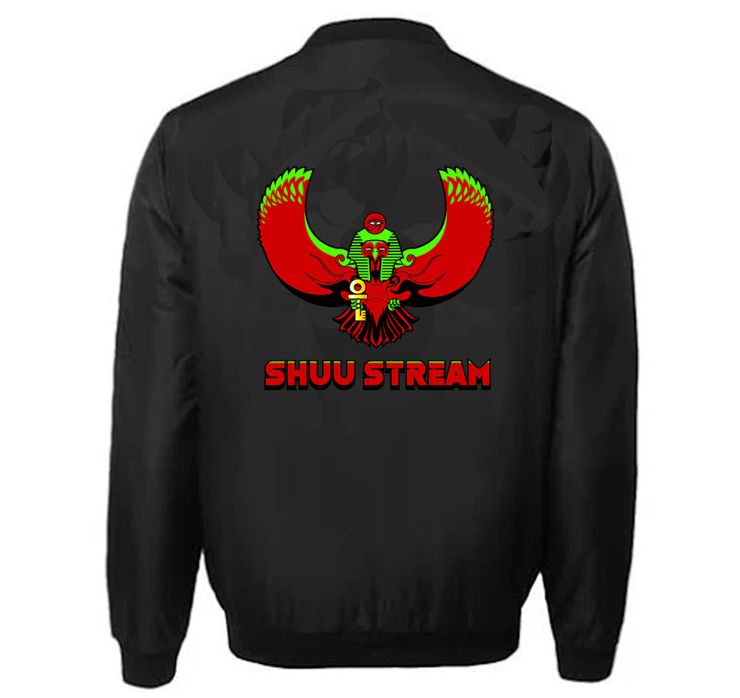 SHUU STREAM APPAREL VARSITY PERFORMANCE FLEECE LEATHER SLEEVE