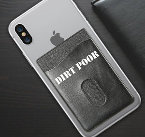 DIRT POOR APPAREL PHONE WALLET CASE 3M STICK ON