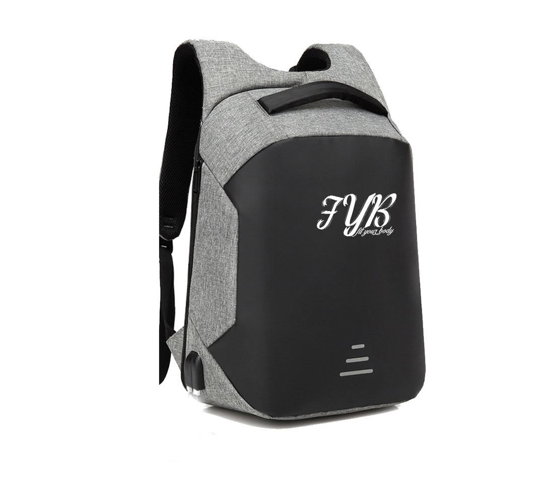FIT YOUR BODY APPAREL HARD SHELL BACKPACK w/ BATTERY SUPPORT