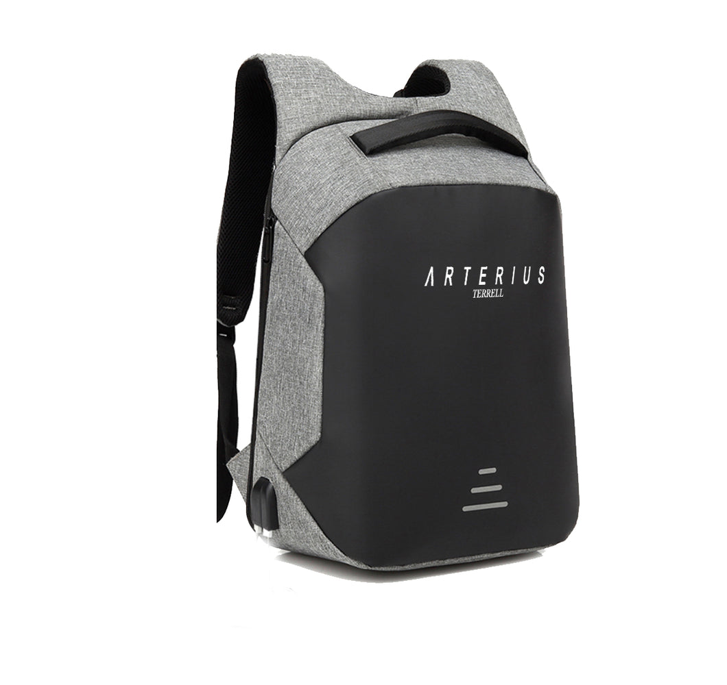 ARTERIUS TERRELL APPAREL HARD SHELL BACKPACK w/ BATTERY SUPPORT