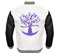 Load image into Gallery viewer, ROOTED FROM THE SOUL APPAREL VARSITY PERFORMANCE FLEECE LEATHER SLEEVE
