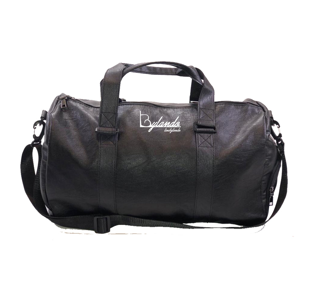 LINE BY LANDO APPAREL Vegan Leather Duffel Bag w/ Side pockets