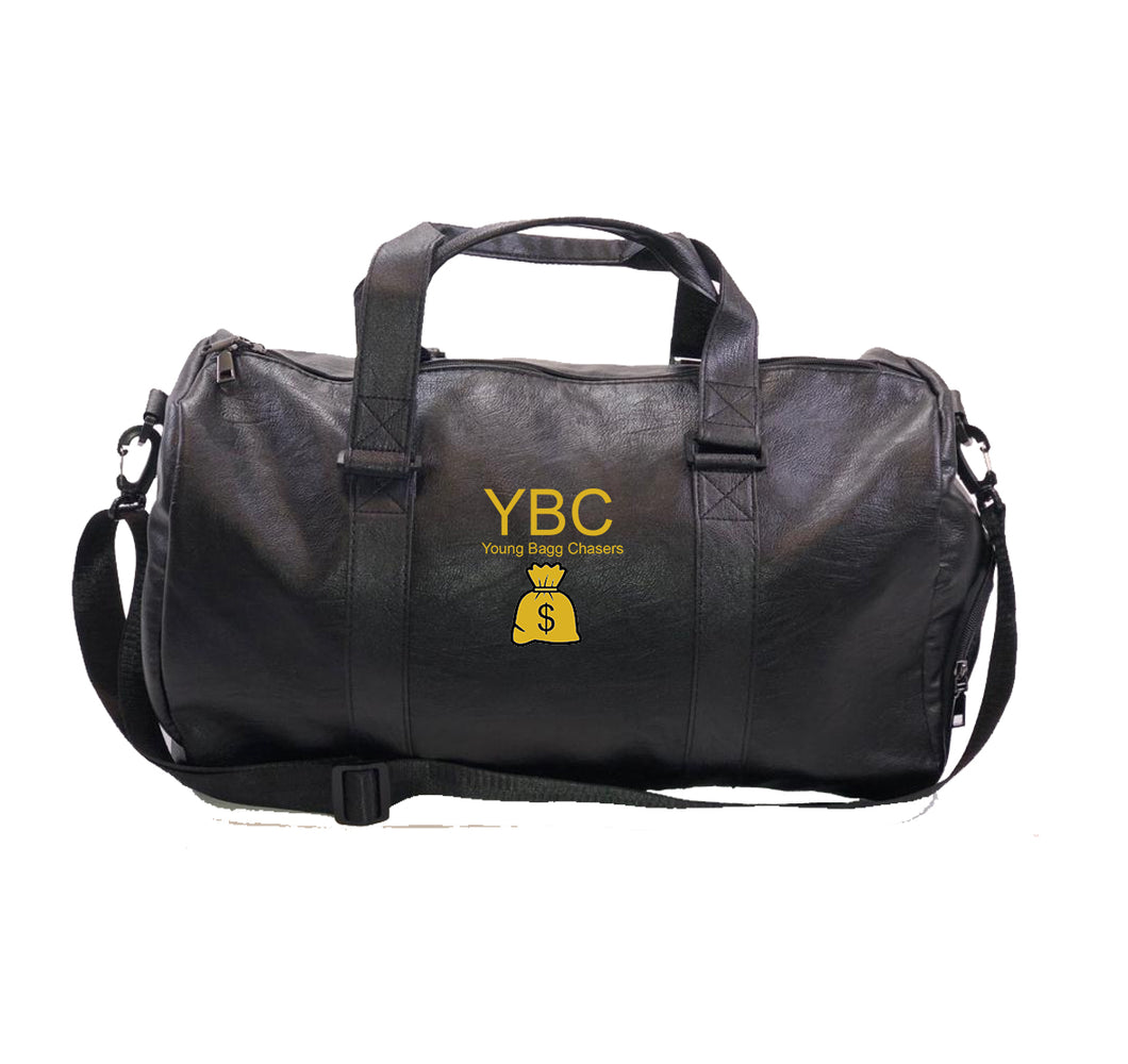 YBC APPAREL Vegan Leather Duffel Bag w/ Side pockets