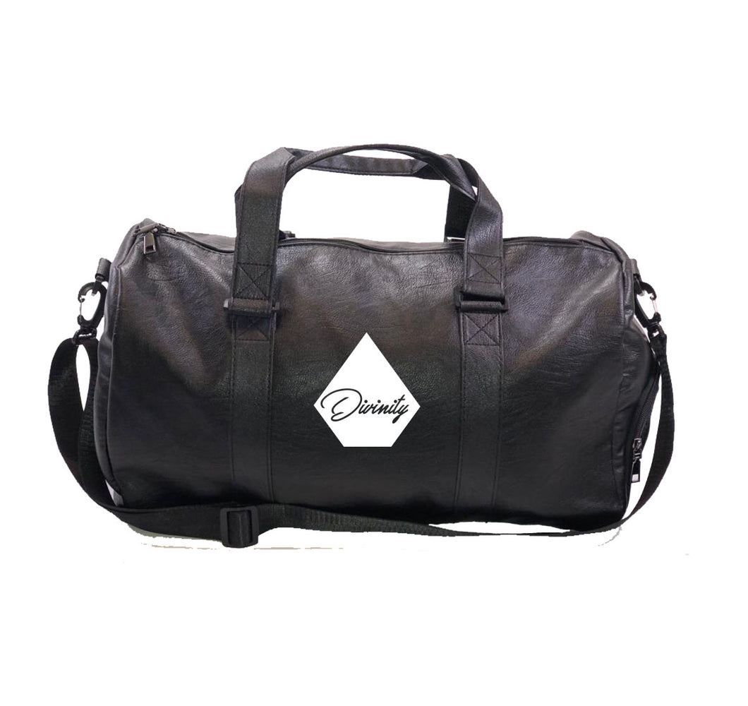 DIVINITY APPAREL Vegan Leather Duffel Bag w/ Side pockets