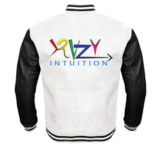 Load image into Gallery viewer, KRAZY INTUITION APPAREL VARSITY PERFORMANCE FLEECE LEATHER SLEEVE