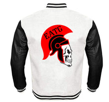 Load image into Gallery viewer, EATG APPAREL VARSITY PERFORMANCE FLEECE LEATHER SLEEVE