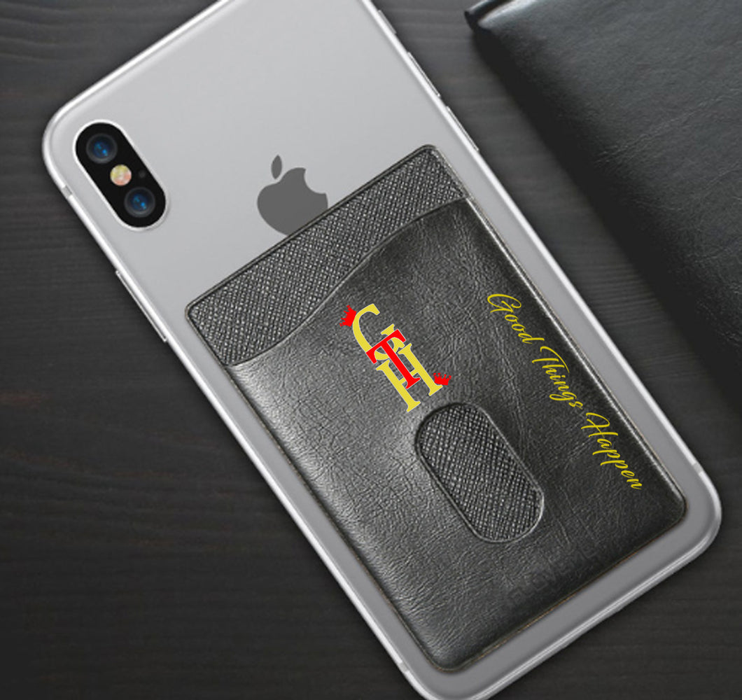 GOOD THINGS HAPPEN PHONE WALLET CASE 3M STICK ON