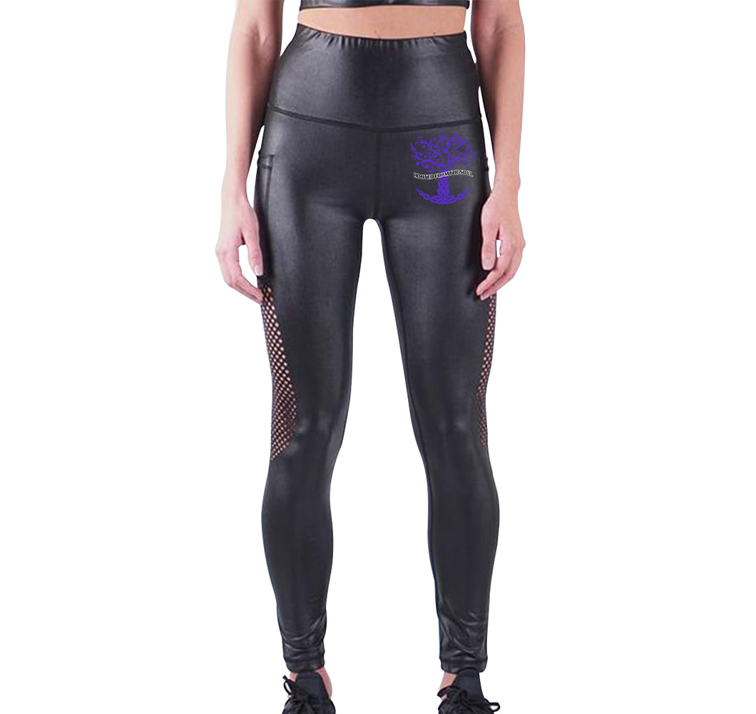 ROOTED FROM THE SOUL APPAREL LIQUID LEGGINGS