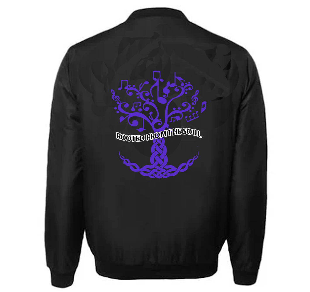 ROOTED FROM THE SOUL APPAREL VARSITY PERFORMANCE FLEECE LEATHER SLEEVE