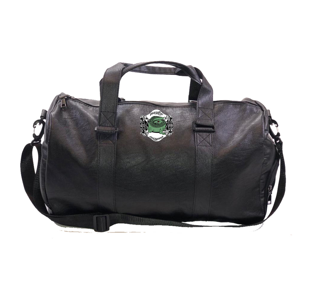 MARTEZ & MARYANN APPAREL Vegan Leather Duffel Bag w/ Side pockets