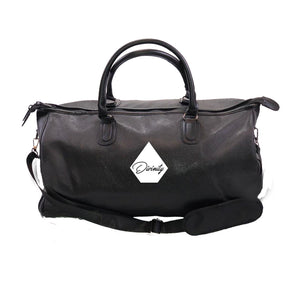 DIVINITY APPAREL Vegan Leather Overnight Bag w/ Side pockets