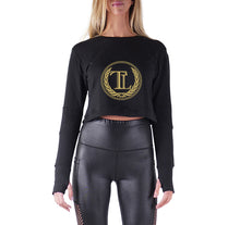 Load image into Gallery viewer, TRUE LOYALTY PREMIUM LONG SLEEVE CROP TOP - WOMEN'S SLIM FIT