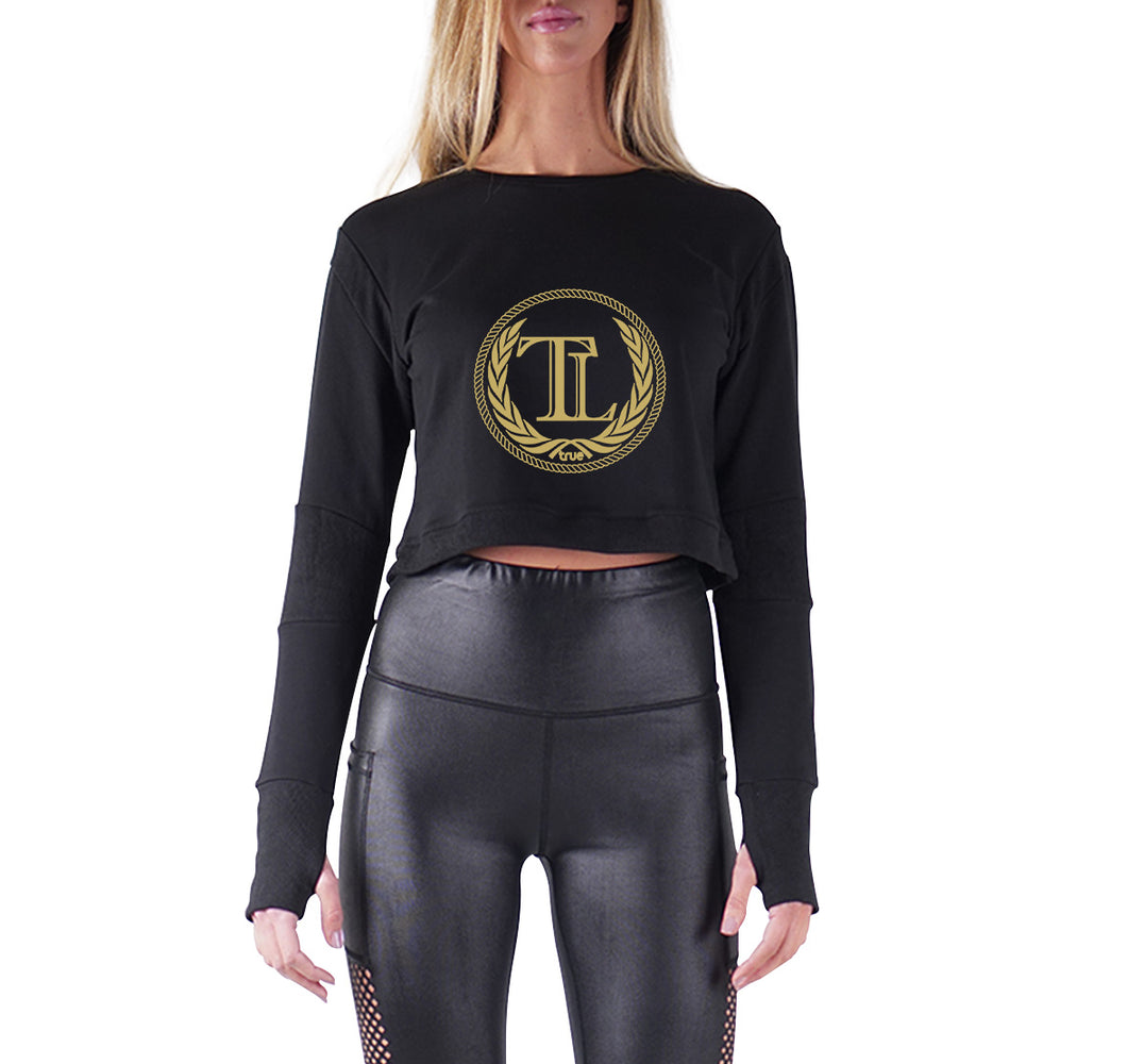 TRUE LOYALTY PREMIUM LONG SLEEVE CROP TOP - WOMEN'S SLIM FIT