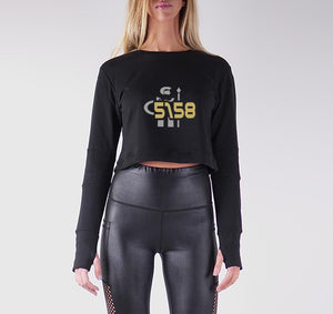 SLS8 PREMIUM LONG SLEEVE CROP TOP - WOMEN'S SLIM FIT