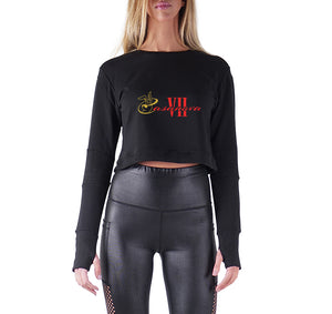 CASANOVA VII APPAREL PREMIUM LONG SLEEVE CROP TOP - WOMEN'S SLIM FIT