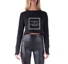 Load image into Gallery viewer, FILLEFIGLIA X TIARAAUSTINI APPAREL PREMIUM LONG SLEEVE CROP TOP - WOMEN'S SLIM FIT